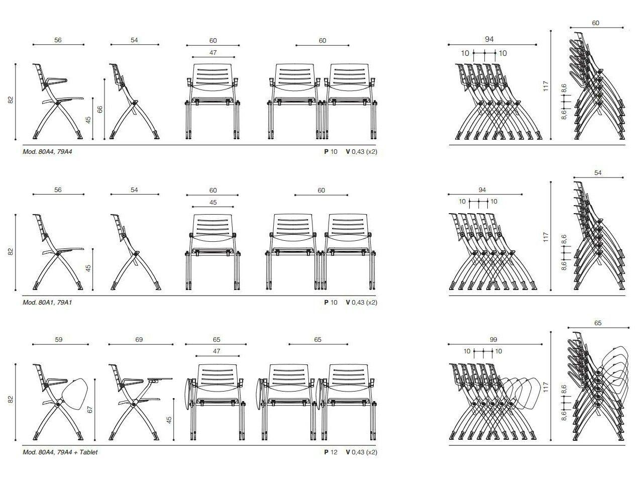 Zero9 sedia da conferenza collezione zero9 by ares line for Sedute dwg