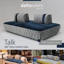 360° total comfort sofas: Talk by Delta Salotti