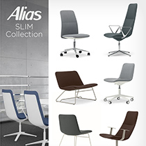 Office seating Alias Slim collection, design by PearsonLloyd