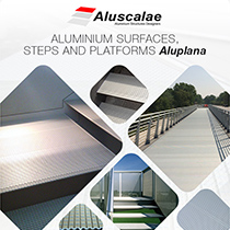 Aluminium surfaces, steps and platforms Aluplana