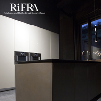 RiFRA Kitchens and Baths with new finishes: metals
