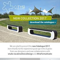 Urban furniture CitySì: download the catalogue 2017