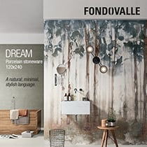 Ceramica Fondovalle: porcelain stoneware with wallpaper effect