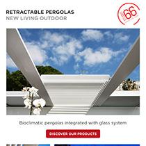 Bioclimatic retractable pergolas by Studio66