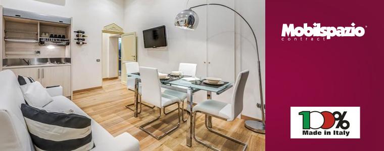 Cucine monoblocco e arredi mobilspazio per hotel e residence for Arredo hotel trento