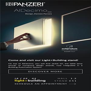 Lampada LED da parete a scomparsa by Panzeri: AlDecimo