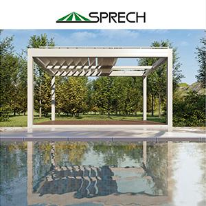 Coperture modulari, tensostrutture e strutture portanti per l'outdoor Sprech