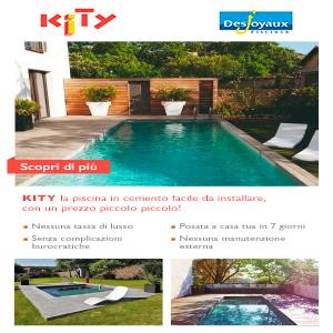 La piscina prefabbricata facile da realizzare: Kity by Desjoyaux