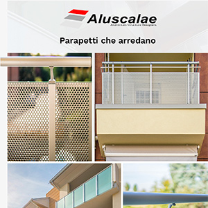 Parapetti, balaustre e ringhiere in alluminio e vetro by Aluscalae