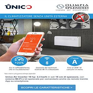 Climatizzatore Unico Wi-Fi senza unità esterna con sistema inverter by Olimpia Splendid
