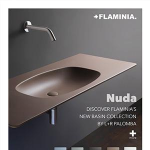 Lavabi Nuda Ceramica Flaminia: nuove misure, colori, finiture