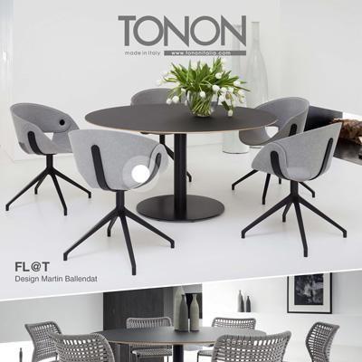 Sedute in/outdoor Tonon: collezioni Fl@t e Corda