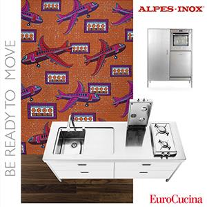 Cucine modulari in acciaio Alpes Inox