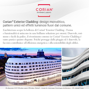 Corian Exterior Cladding: superiore flessibilità progettuale per le facciate