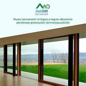 Nuovi serramenti termoacustici in legno e legno-alluminio Alpilegno