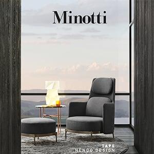 Collezione Tape: sedute Minotti con dettaglio couture