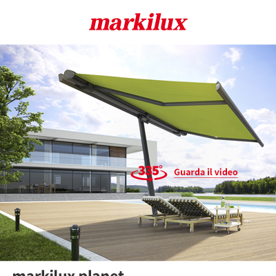 Tenda ombrellone da sole fissa o mobile by Markilux