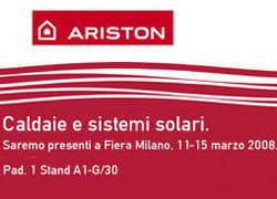 Ariston partecipa alla 36° Mostra Convegno Expocomfort 2008