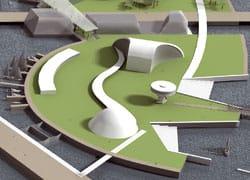 Aviles: posa della prima pietra per il Centro Oscar Niemeyer