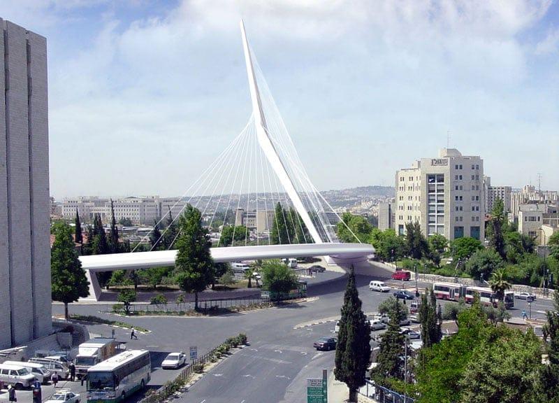Ultimato il ponte di Calatrava a Gerusalemme