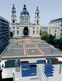 A Budapest si parcheggia sotto la basilica