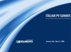 Solarexpo apre l'edizione 2009 con l' ITALIAN PV SUMMIT