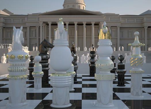 Una gigantesca scacchiera per Trafalgar Square