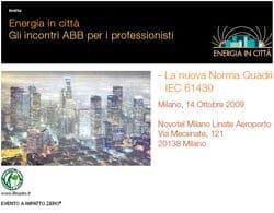 ABB SACE Division: aperte le iscrizioni al II° ciclo di Energia in Città