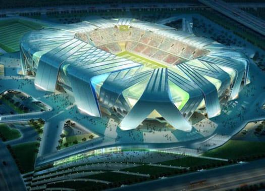 UNstudio per il nuovo stadio da 40.000 spettatori di Dailan