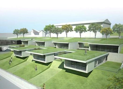 Terrazze-giardino per il nuovo polo scolastico di Sangemini