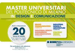 POLI.design, 20 borse di studio per 70mila euro