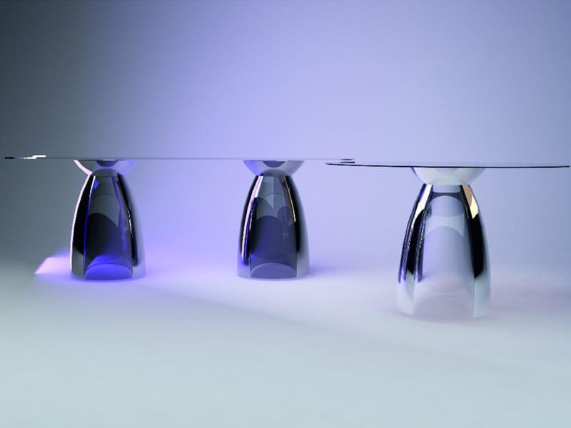 Tavoli In Cristallo Allungabili Reflex.I Nuovi Tavoli In Cristallo Di Reflex