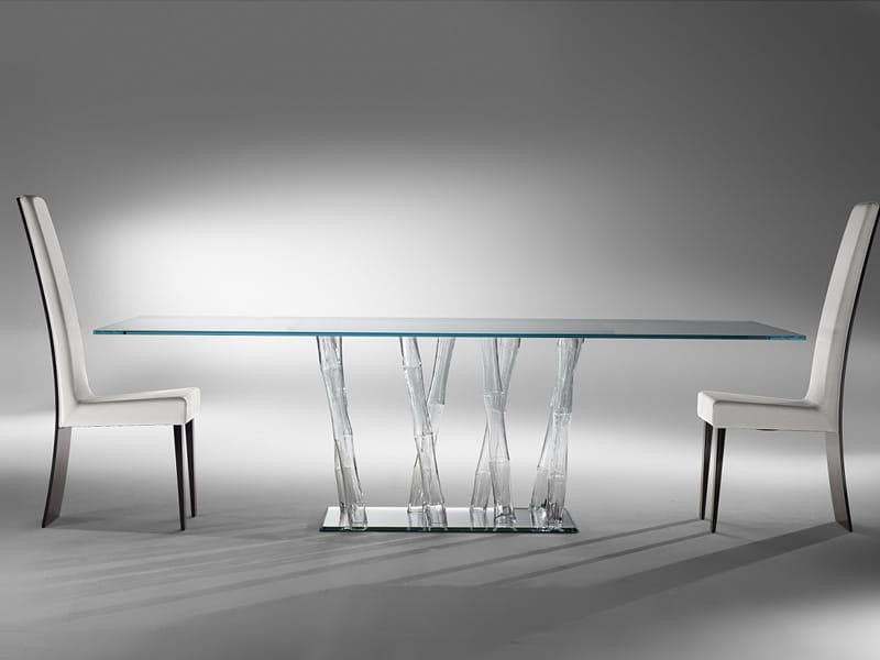 Tavoli Cristallo Allungabili Reflex.I Nuovi Tavoli In Cristallo Di Reflex
