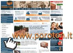 Poroton® Italia, on line il nuovo sito