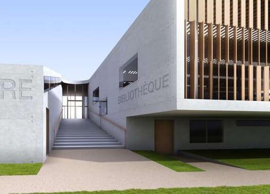 Legno Vetro E Cemento Bianco Per L Università Di Amiens
