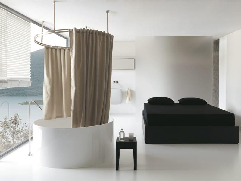 Colacril presenta la tenda vasca doccia disegnata da romano adolini - Tenda doccia design ...