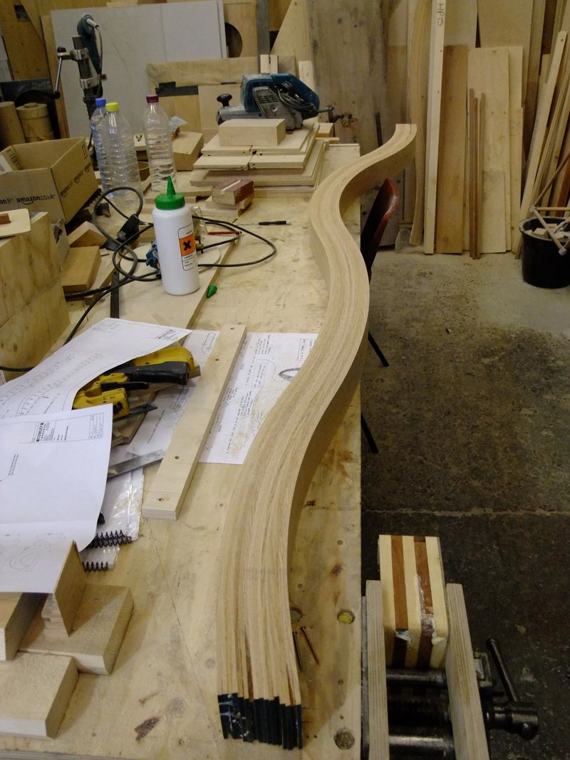 2. Elemento lamellare in quercia rossa americana per Timber Wave