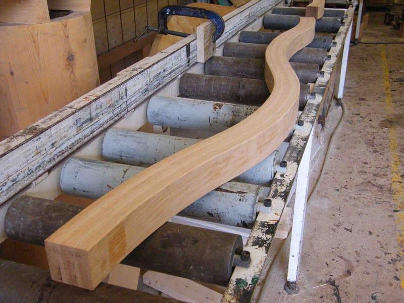 3. Componente della Timber Wave in lamellare di quercia rossa americana
