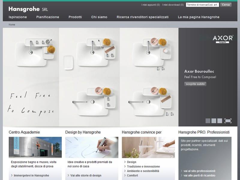 Il nuovo portale hansgrohe per progettare il bagno su misura