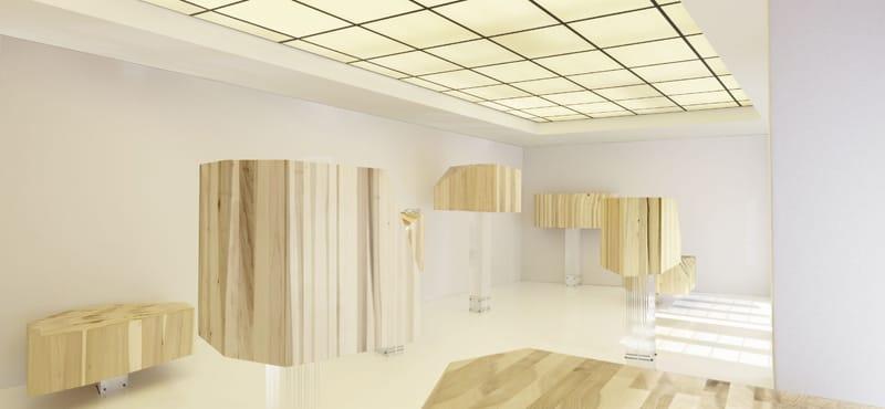 3. Wallpaper_Fujimoto bar in tulipwood americano - Fotografie gentilmente fornite da: Wallpaper* e Andrea Garuti