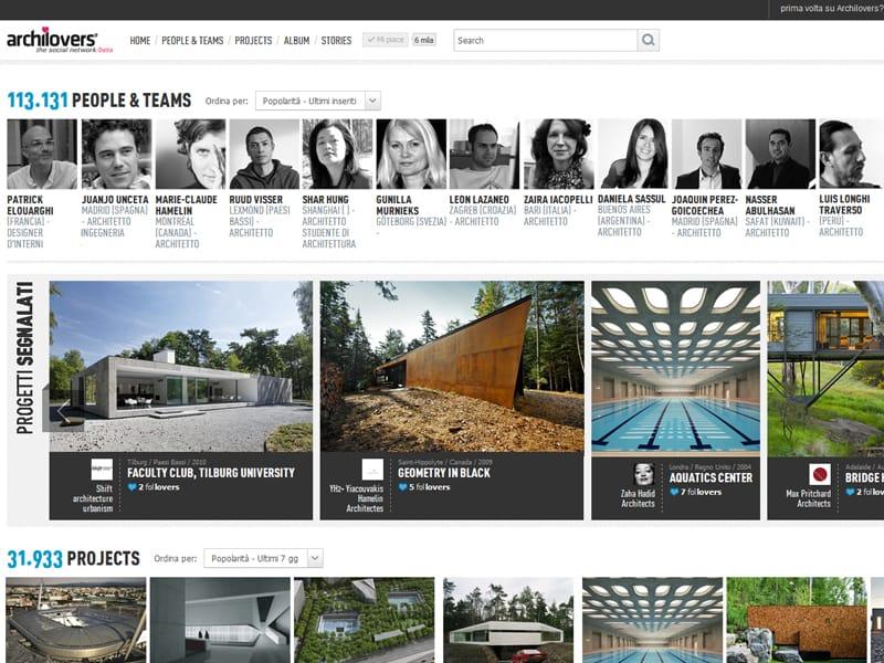 Archilovers, il nuovo social network per architetti e designer
