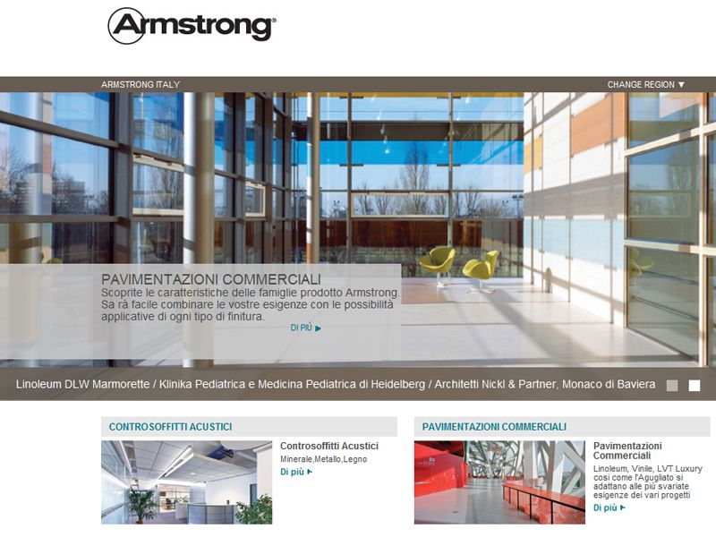 È on line il nuovo sito web di Armstrong Building Products