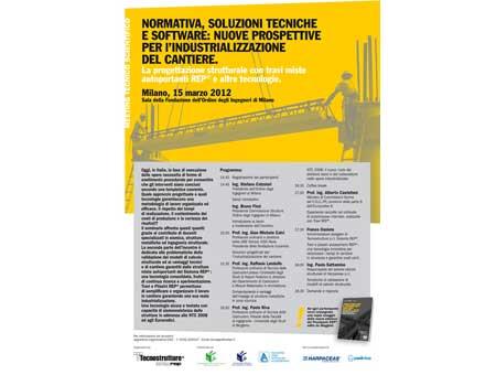 Da Tecnostrutture un convegno sulle prospettive per l'industrializzazione del cantiere