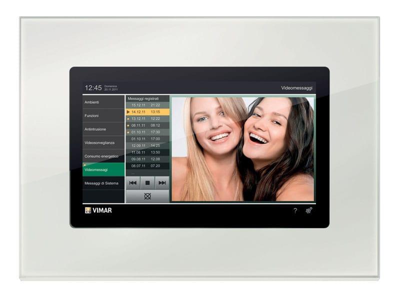 05.Multimedia video touch con placca in cristallo bianco diamante