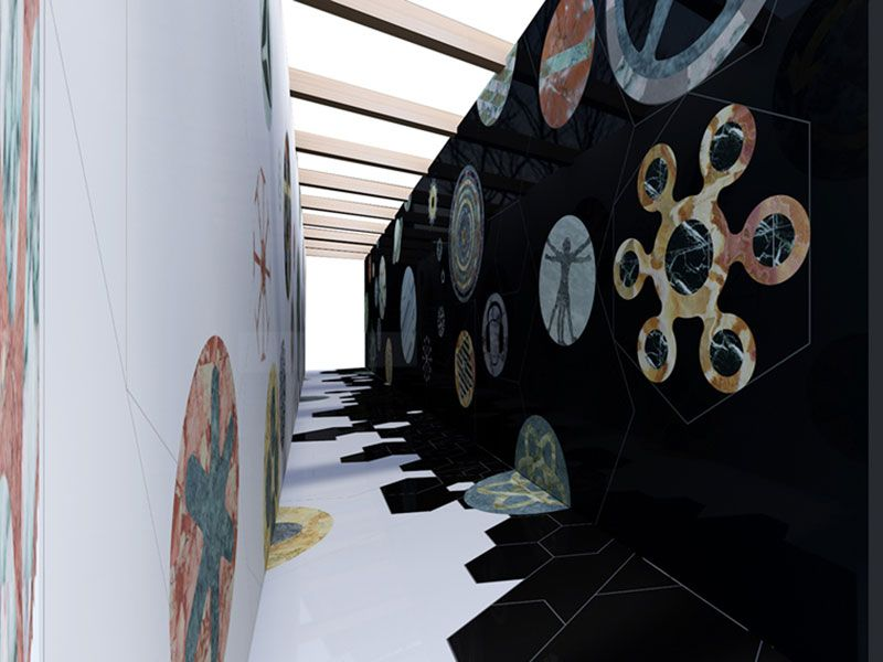 Turkish stones, Thus Spoke The Marble, installation by Werner Aisslinger