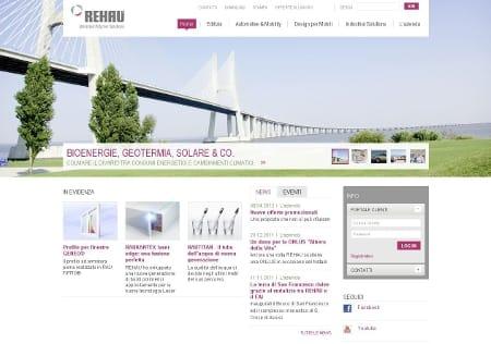 Un nuovo volto web 2.0 per REHAU