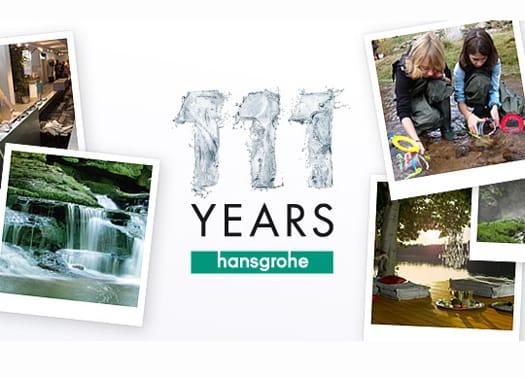 111 years Hansgrohe: 111 modi di interpretare il futuro dell'acqua