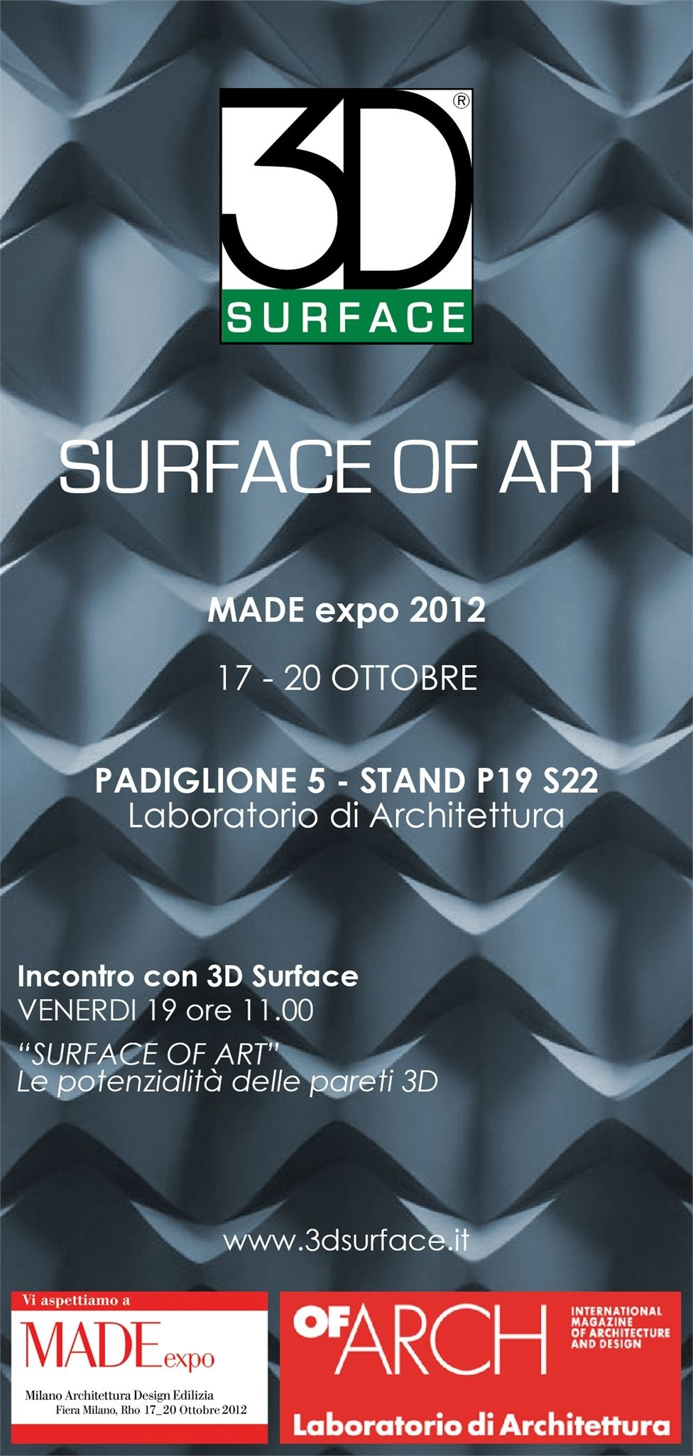 3D Surface a Made Expo presenta le suggestive pareti tridimensionali