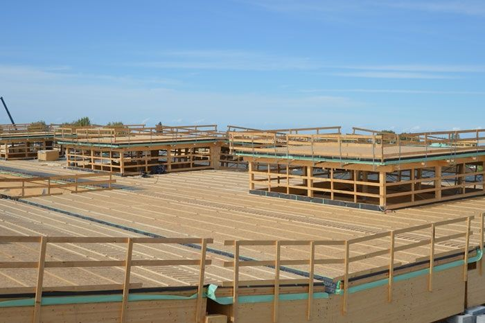 Il nuovo capannone antisismico della Menù srl di Medolla realizzato ad opera di Wood Beton