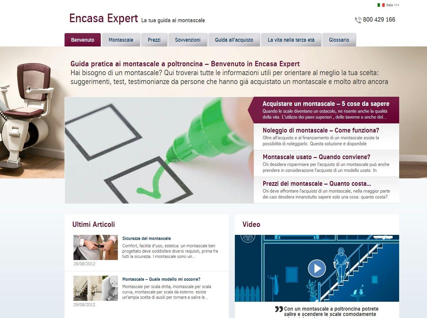 Arriva encasa-experts.com by ThyssenKrupp Encasa